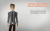I will make awesome 120sec animated video for Rs. 500