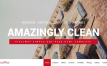 I will design one page responsive parallax website by html5 css3